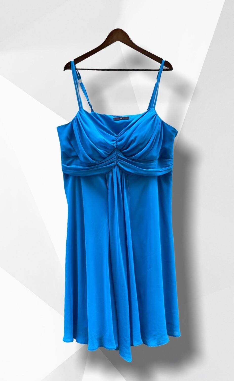 Vestido de ceremonia corto azul turquesa (TG)