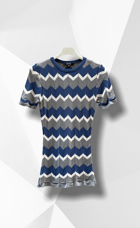 Camiseta de punto zig-zag