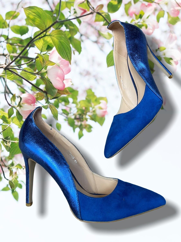 Stilettos azul eléctrico T41