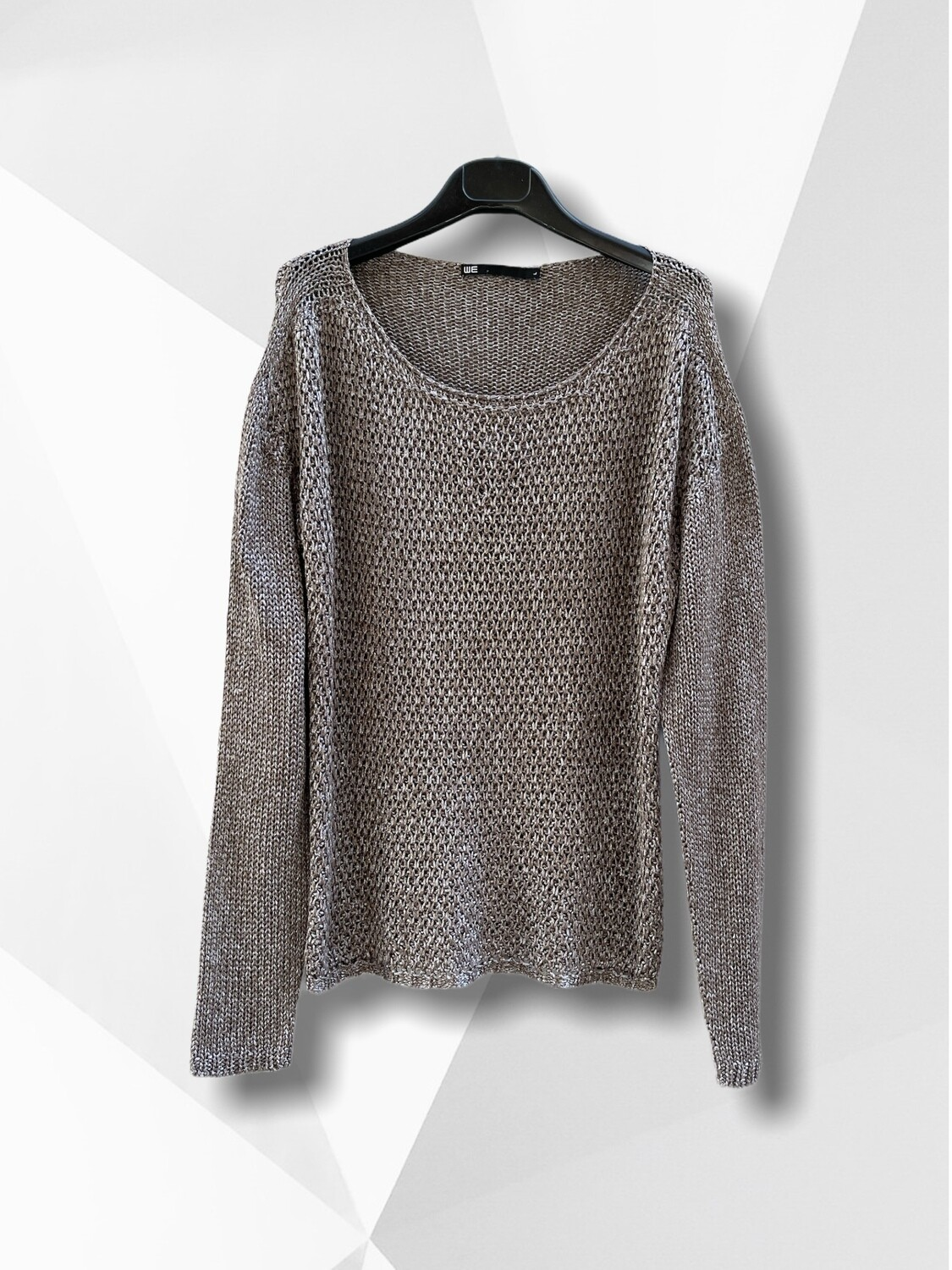 Sweater de hilo con brillo