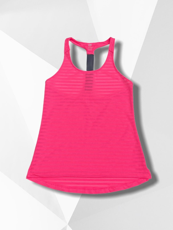 Top deportivo rosa fosfi H&M SPORT