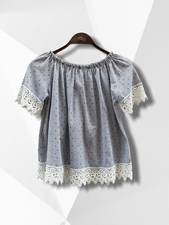 *NEW* Camiseta marinera con hombros al aire