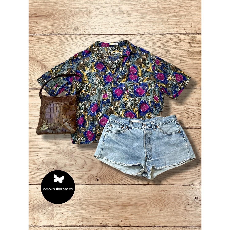 *COMBI 2* Blusa vintage con goma en la cintura