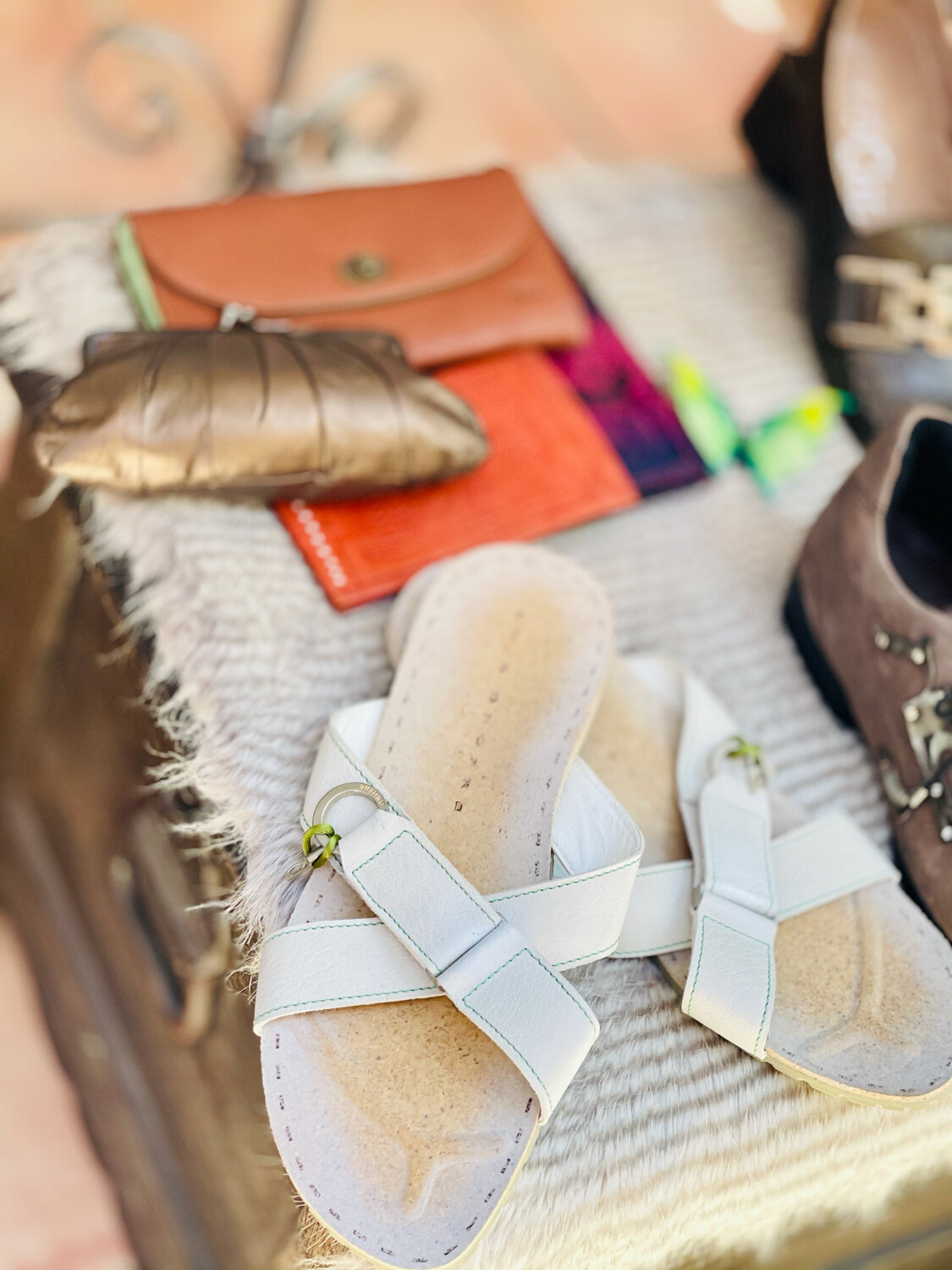 """Sandalias de piel de hombre """"LUIS ONOFRE"""" Talla 45"""