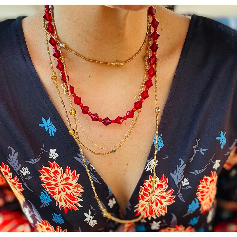 "Collar ""RED DIAMONDS"""
