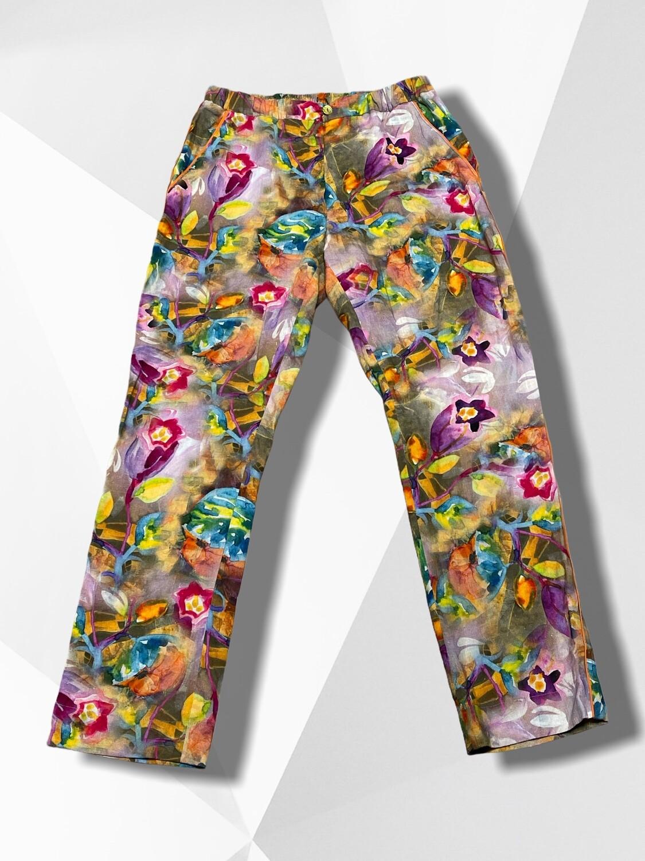 Pantalón sueltito de lino TALLA M