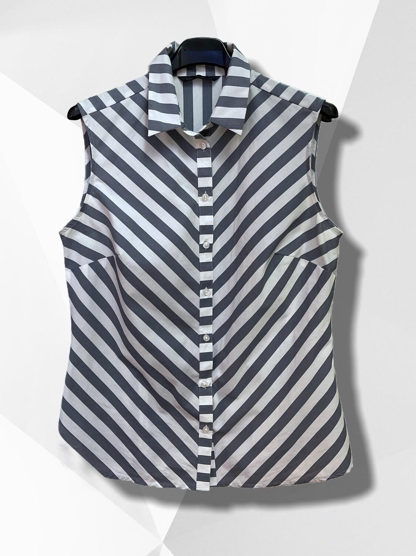 Camisa de rayitas sin mangas