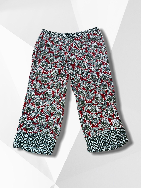Pantalón sueltito recto con flores (TG)