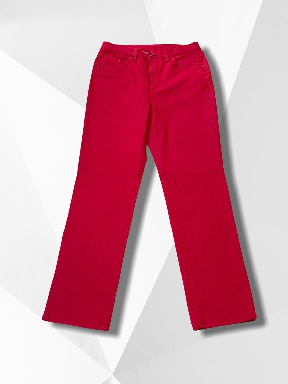 Pantalón vaquero rojo