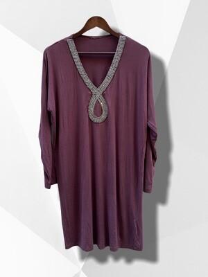Blusón tipo túnica de modal / vestido