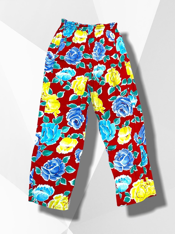 **COMBI 1** Pantalón sueltito recto de flores