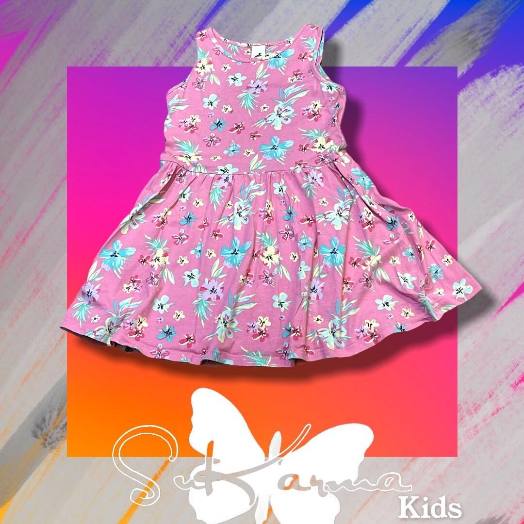 Vestido de florecitas de niña Talla 7/8 años