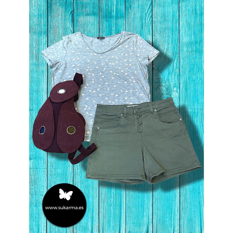 **COMBI 6** Camiseta de algodón con mini gaviotas