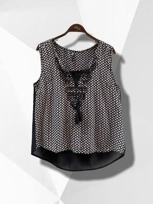 Blusa sin mangas con espalda transparente