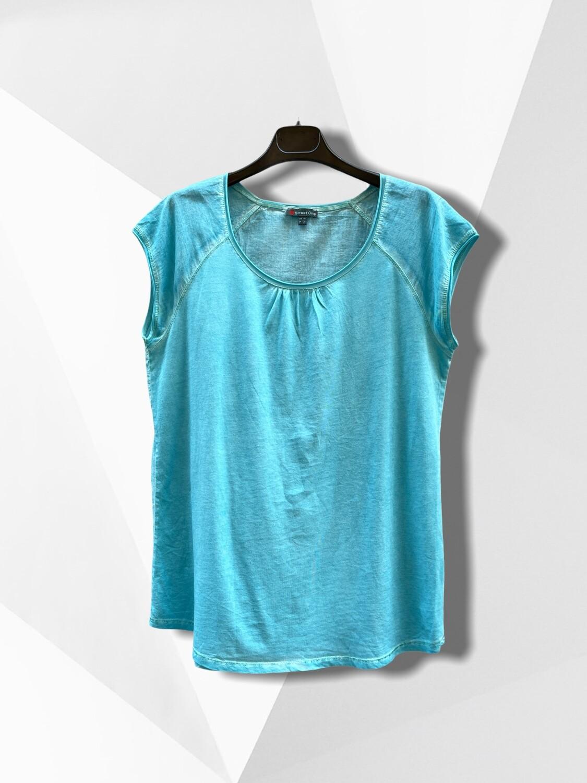 *COMBI 5* Camiseta de manga corta turquesa.