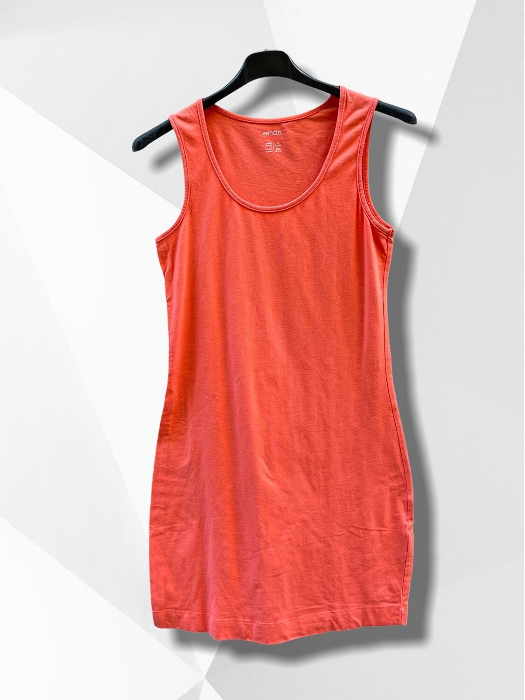 Vestido básico de algodón