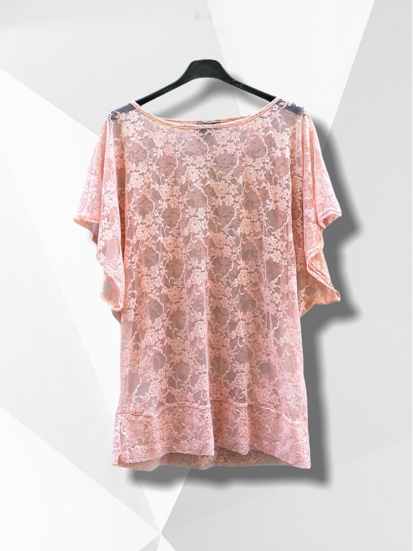 Camiseta de encaje salmón (TG)