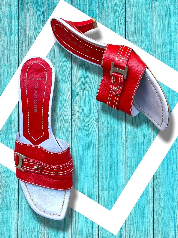 Sandalias de piel rojas T36