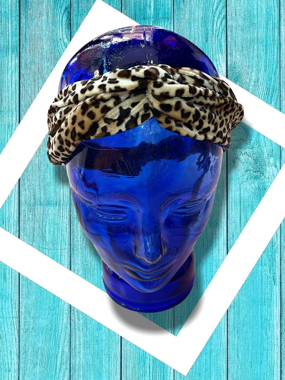 *HOY* Bandana de pelo de terciopelo de leopardo
