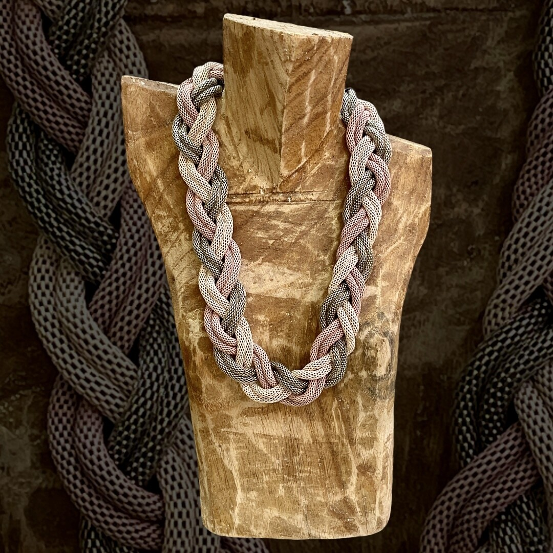 *HOY* Collar de metal trenzado