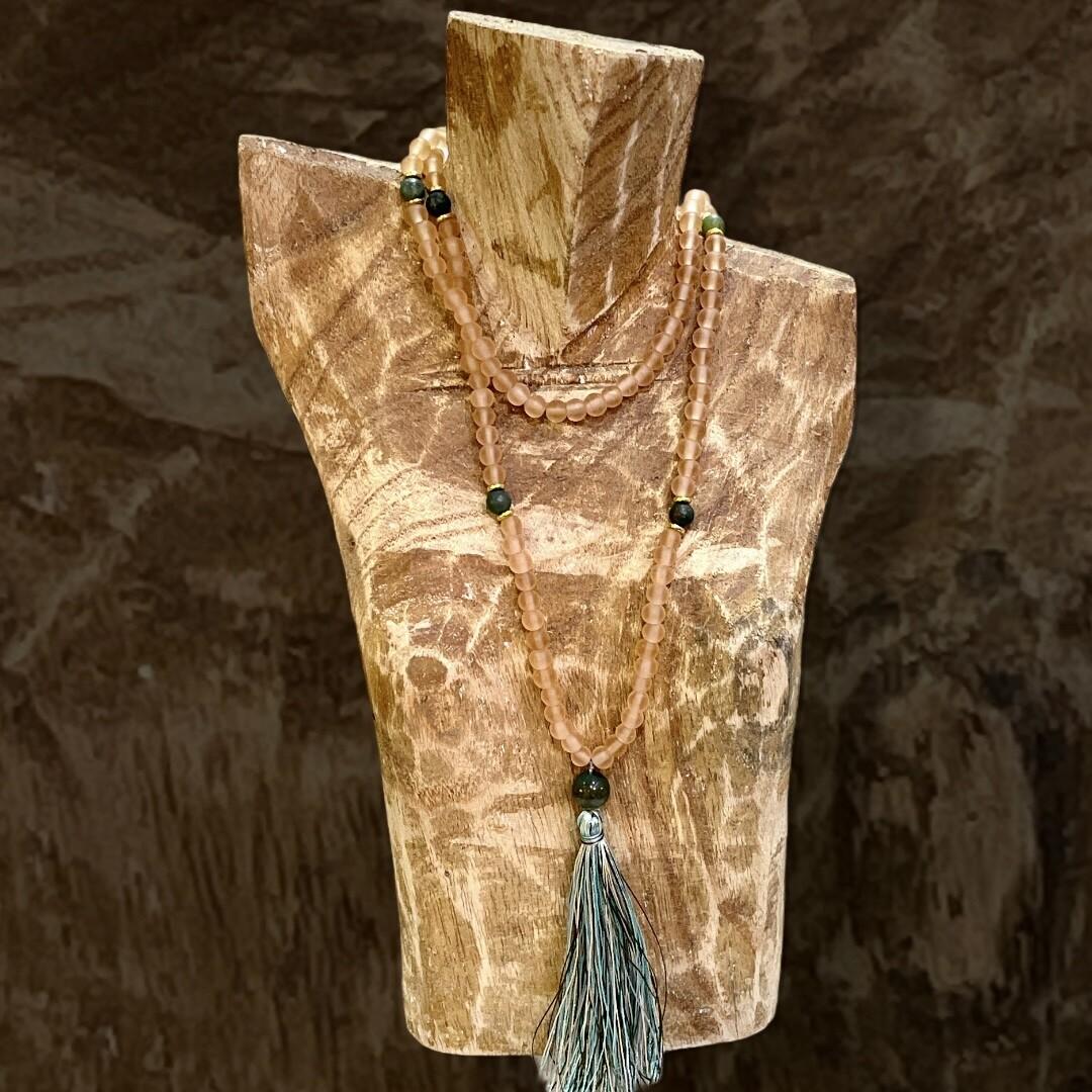 ***HOY*** Collar tipo tibetano de piedras