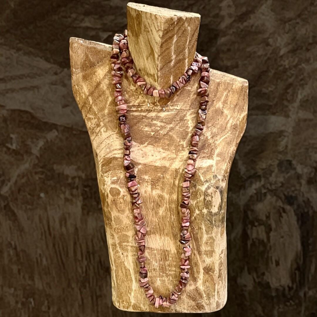***HOY*** Collar de cuarzo rosa