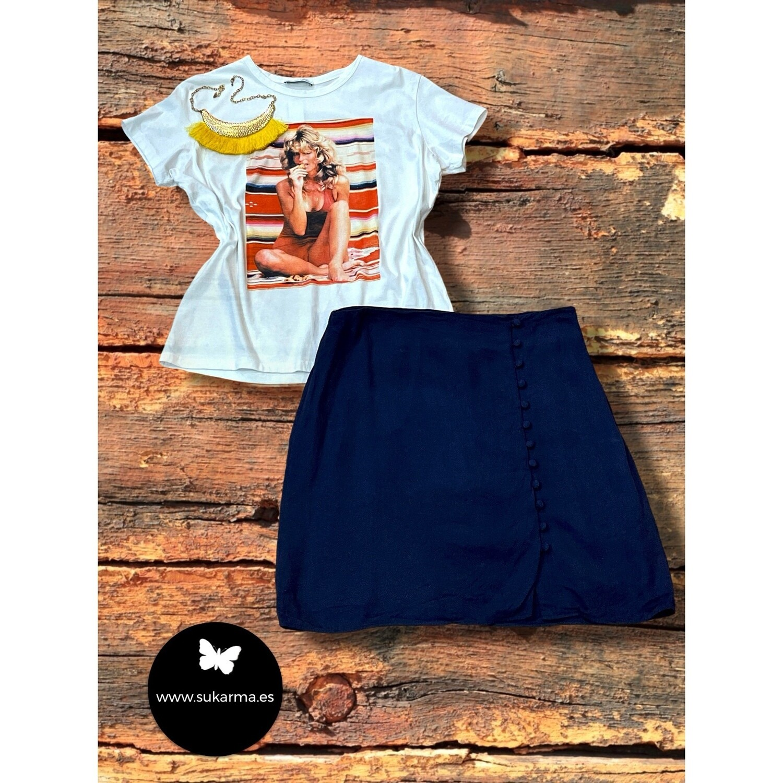 **COMBI 4** Camiseta de algodón FARRAH FAWCETT