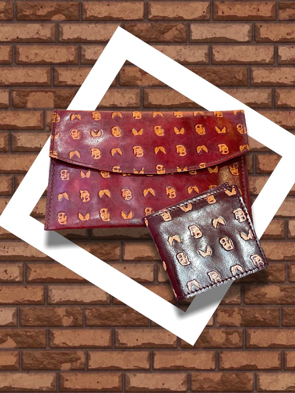Billetera/monedero de piel marroquí