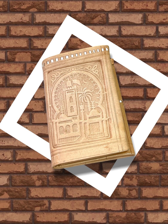**NEW** Billetera de piel marroquí con grabados