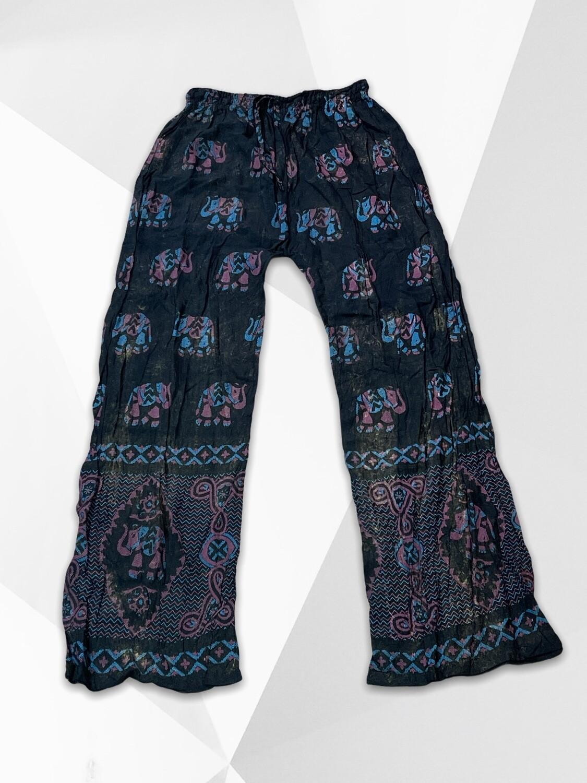Pantalón sueltito hippie con elefantitos Talla Única