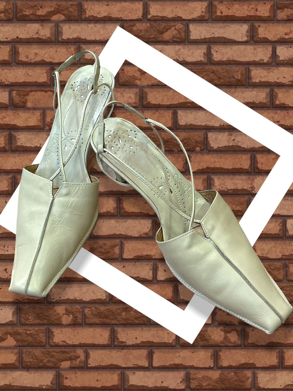 Sandalias de piel de punta cuadrada EL CORTE INGLES T39