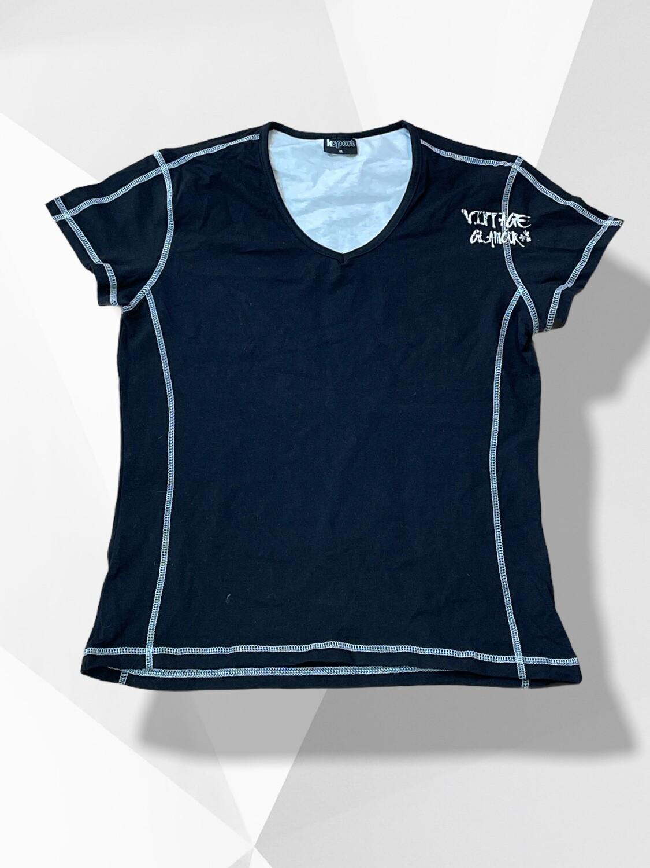 Camiseta deportiva de algodón con costuras blancas