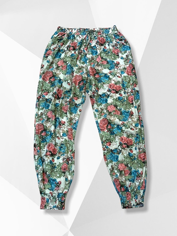 Pantalón sueltito de flores Talla Única