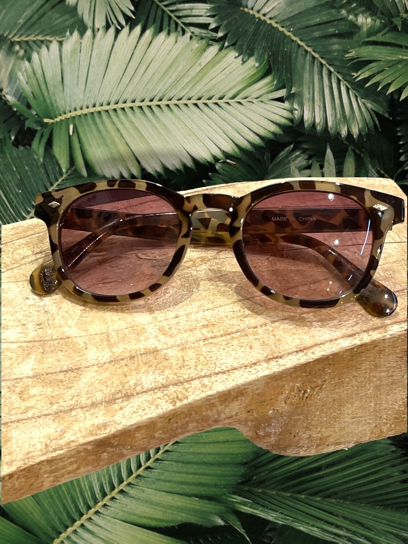 Gafas de sol tipo wayfarer atigradas