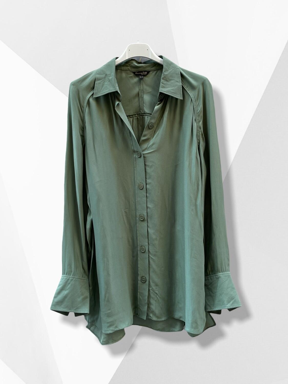 Camisa verde militar MASSIMO DUTTI