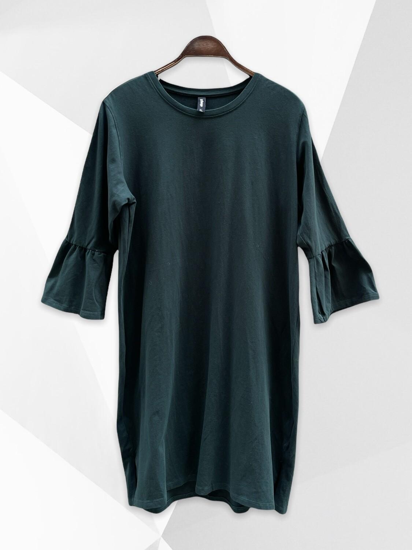 **NEW** MAXI Sudadera (vestido) verde con mangas de campana EKSEPT