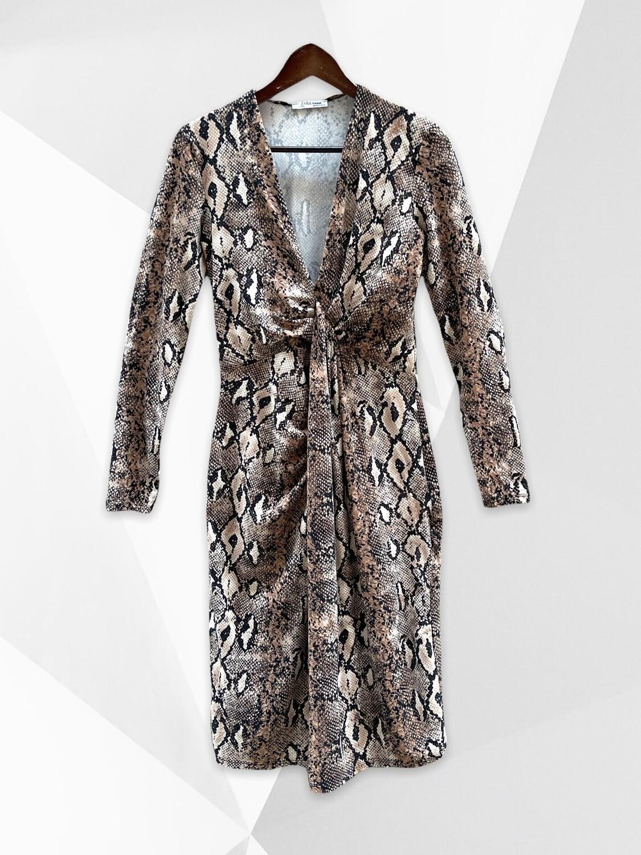 **NEW** Vestido de entretiempo animal print ZARA