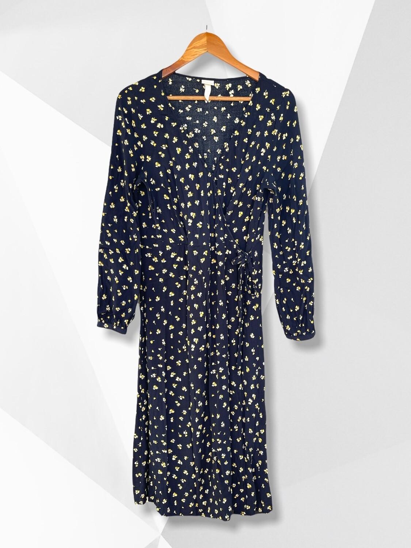 Vestido largo camisero cruzado H&M
