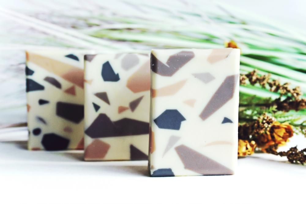 TERRAZZO lavender patchouli natural clay soap