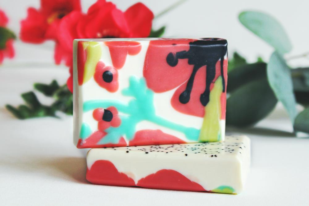 POPPY FIELD poppy seed cherry almond soap