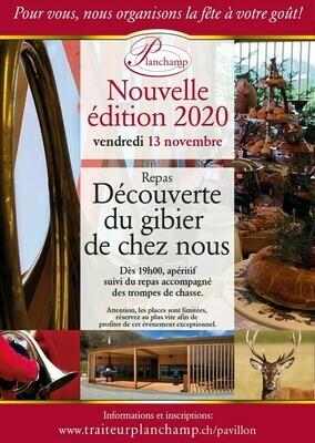 Repas chasse au Pavillon 13/11/2020 Soirée du Vendredi