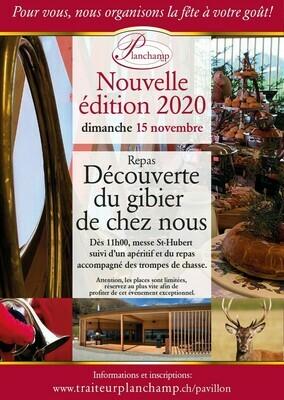 Repas chasse au Pavillon 15/11/2020 Repas du dimanche