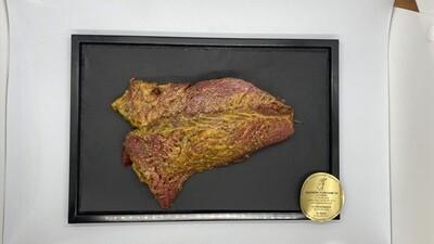 Steak de cheval mariné
