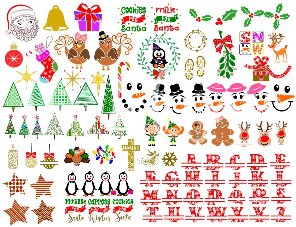 Christmas Bundle Svg Dxf Eps Png Files