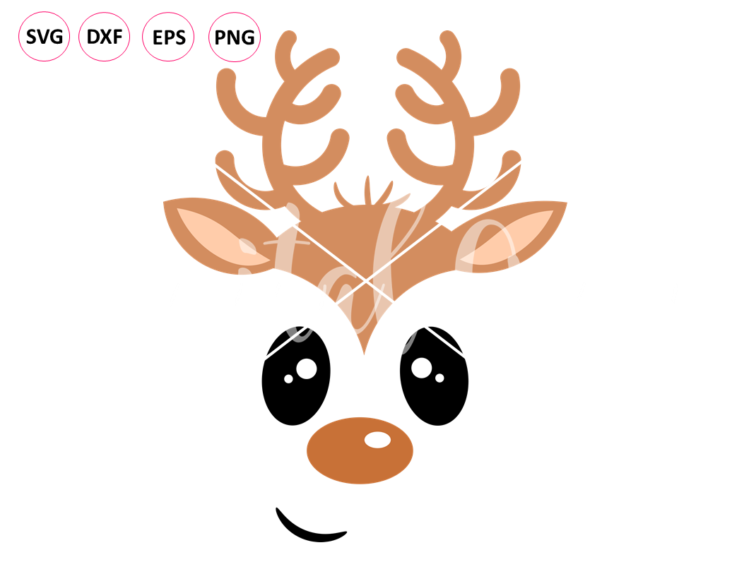 Reindeer Svg Dxf Png Eps Files