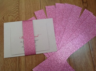 Glitter Invitation Belly Bands