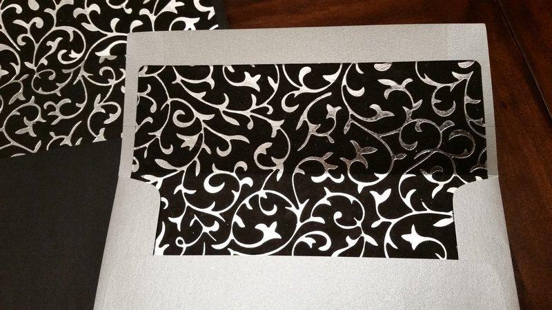 Foil Swirl Envelope Liner