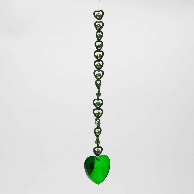 Prisme coeur vert