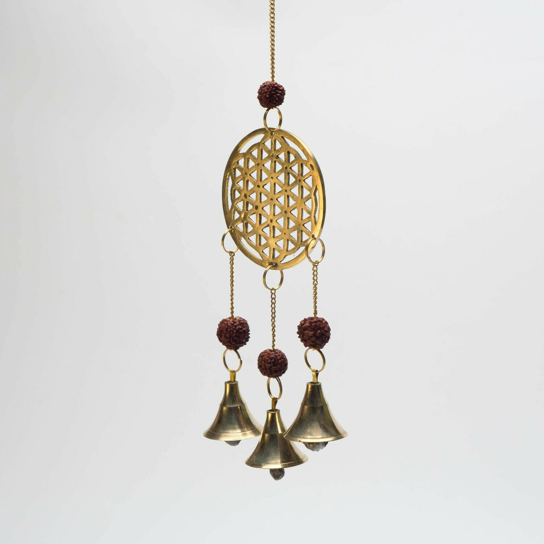 Carillon fleur de vie en bronze