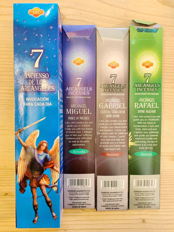 Encens des Archanges : 7 Paquets de 5 Encens / 7 Semaines de Purification.
